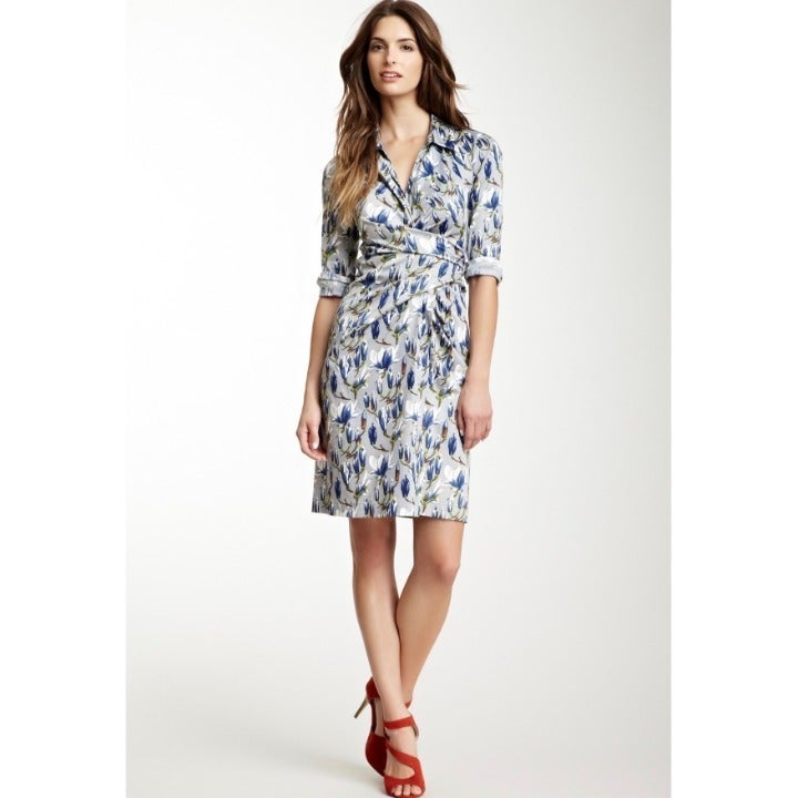 Samantha Sung Grey Floral Print Dress