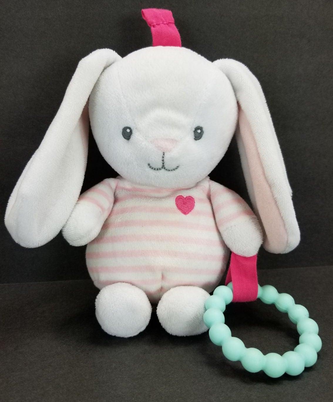 Carter's Pink & White Bunny Rabbit Plush