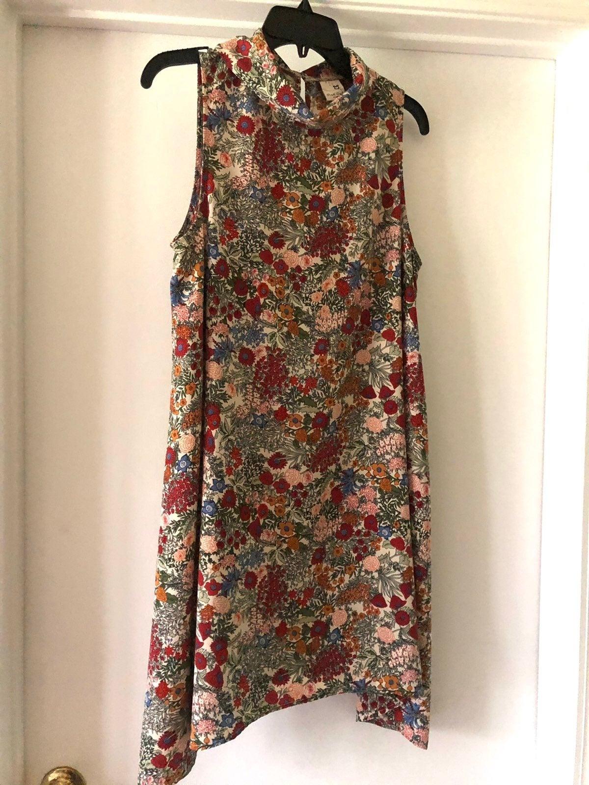 Womens Dress Sz-L Rust Print