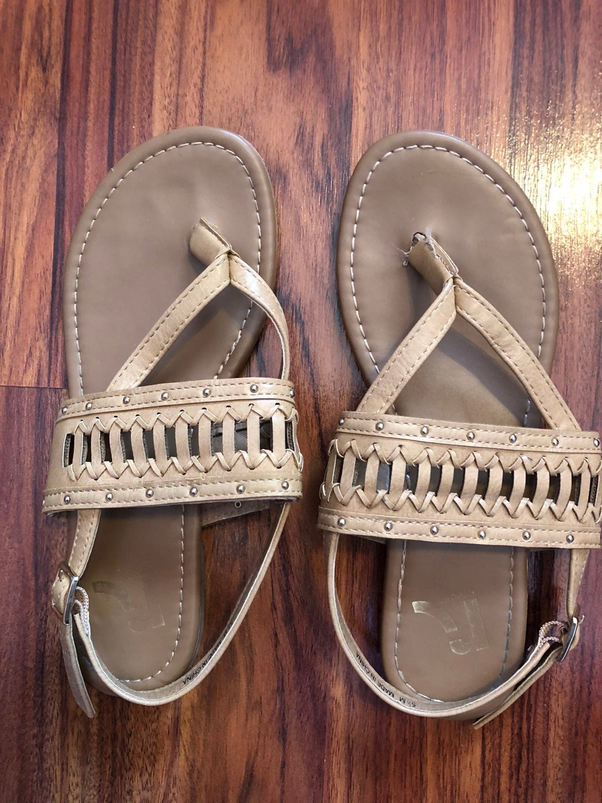 Nude colored sandals