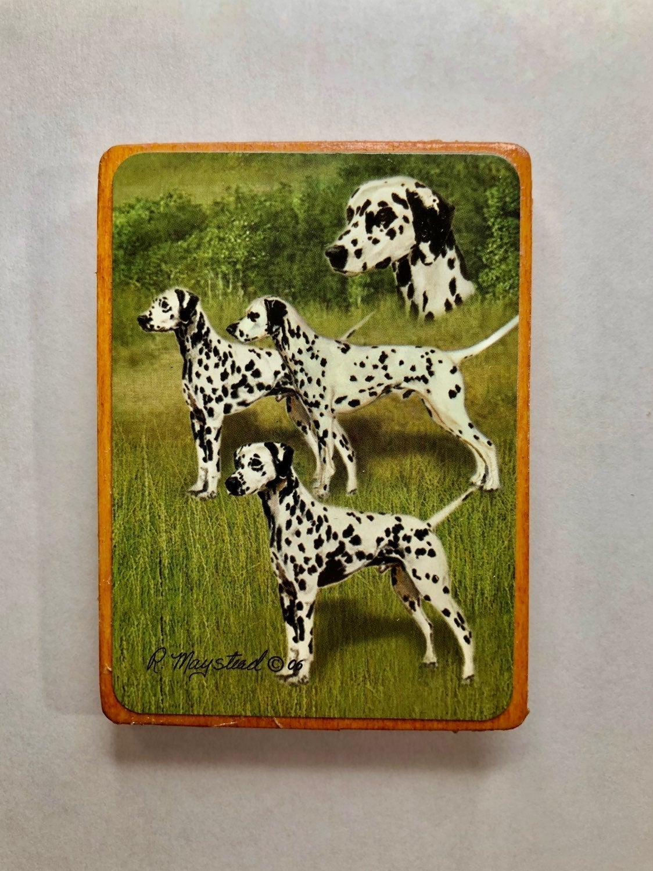 Dalmatian Dog Wood Magnet