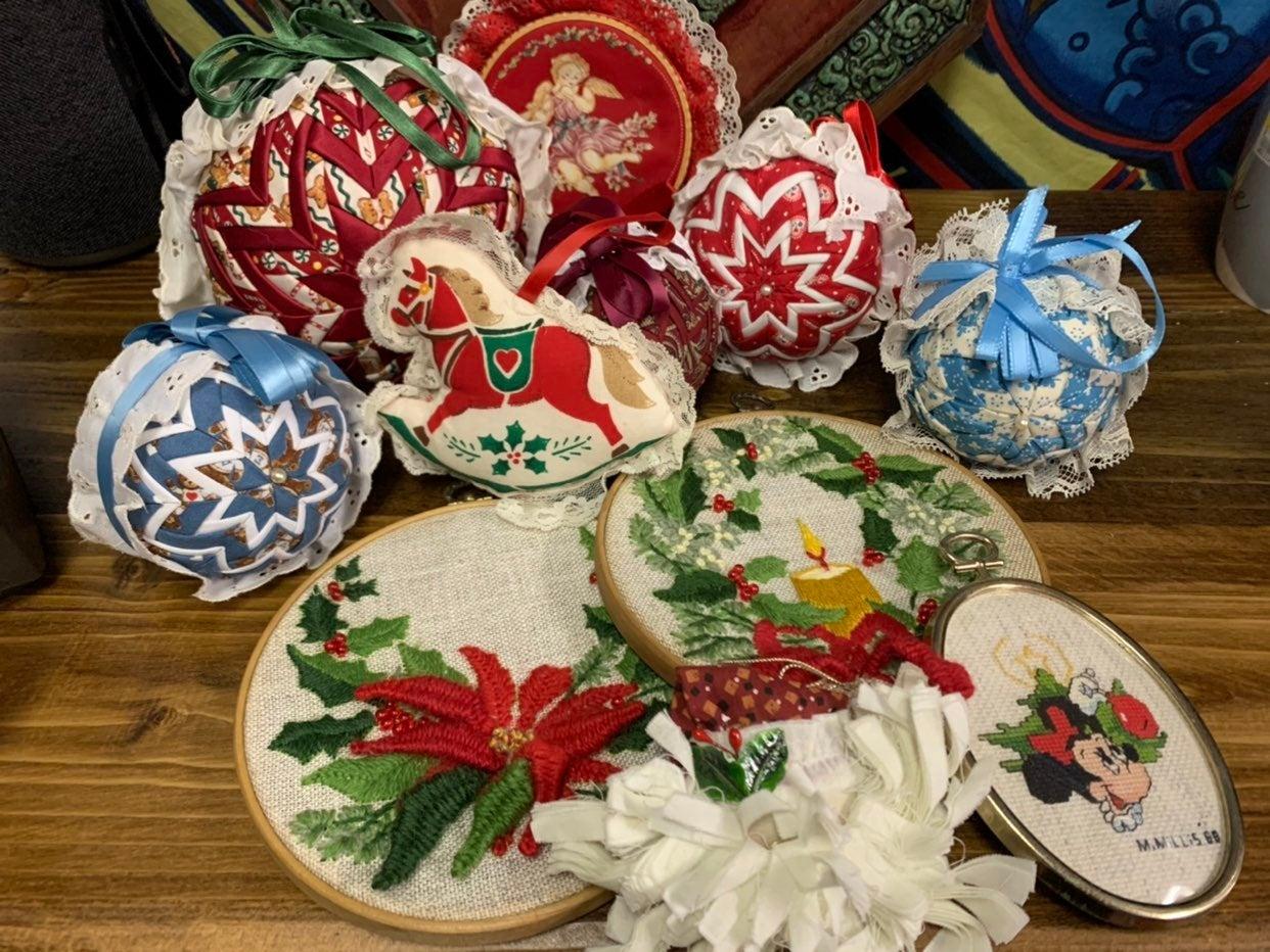 Vintage handmade christmas ornaments