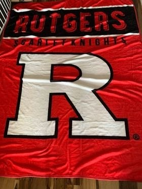 Rutgers Plush Throw