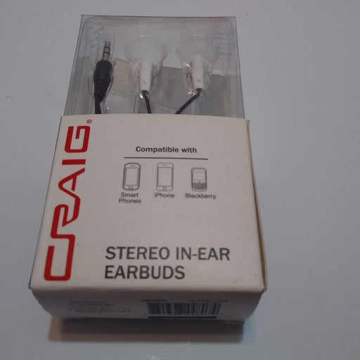 Craig Silicone Earbuds White CHP4807 New