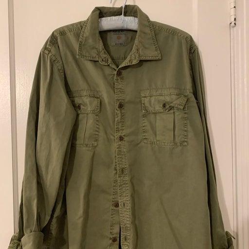 Ruff hewn green shirt mens large