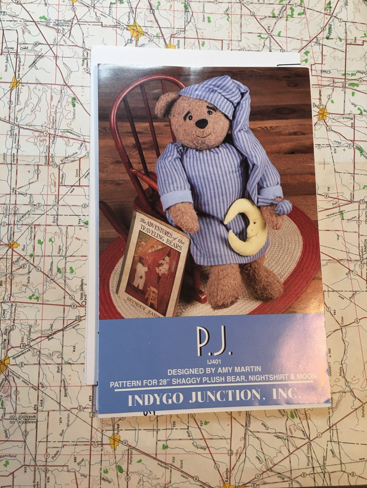 Indigo Junction P.J. Bear Pattern