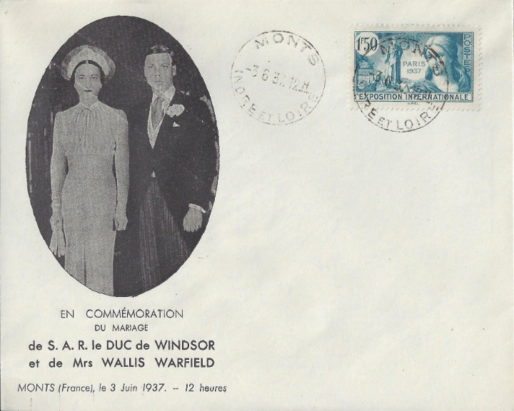 First Day Cover Marriage Duke of Windsor
