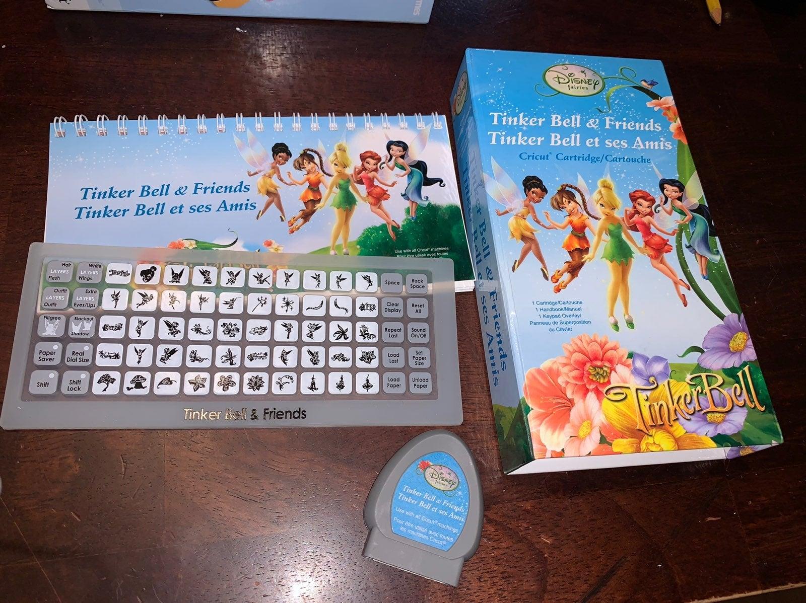 Tinker Bell and Friends cricut cartridge