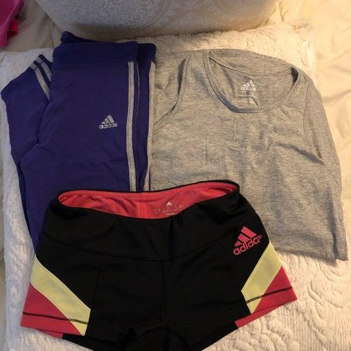 Adidas girls leggings xl 14/16 lot bundl