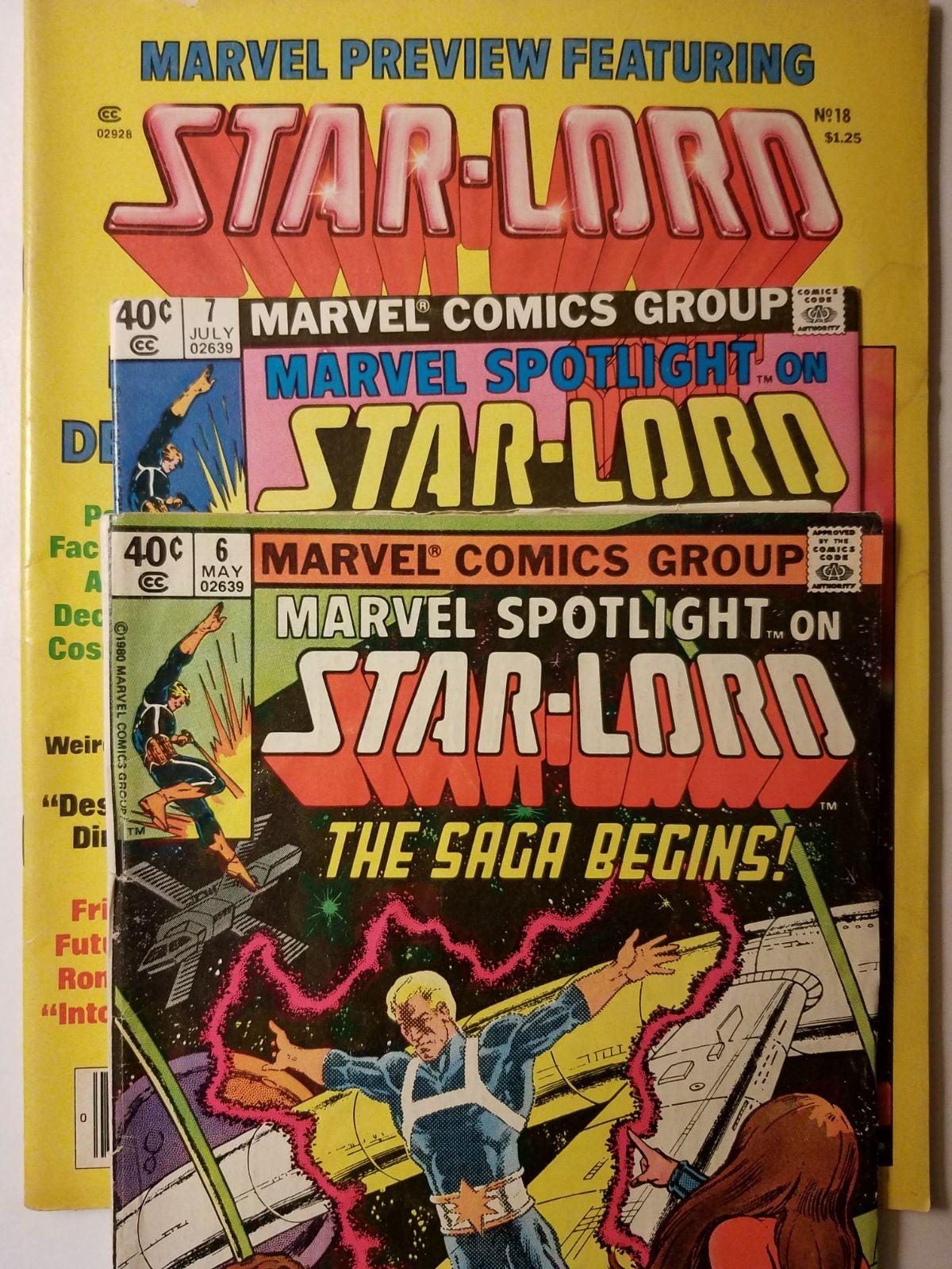 Marvel Starlord comic book lot