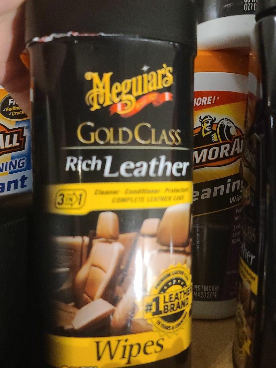 Meguiars gold class rich leather wipe