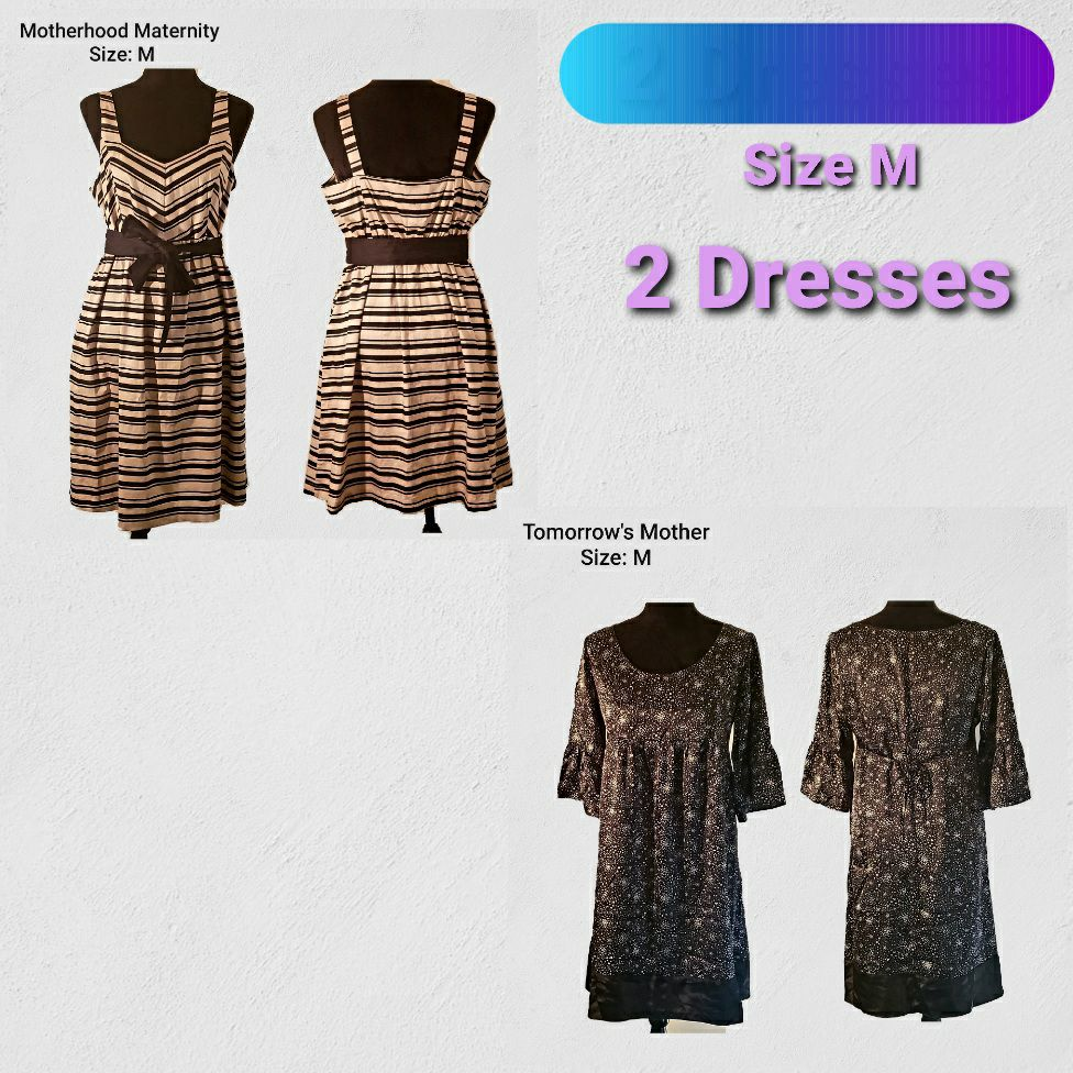 Two Maternity Dresses Size: M