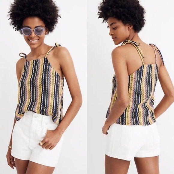 [Madewell] NWT Crochet Tie Shoulder Tank