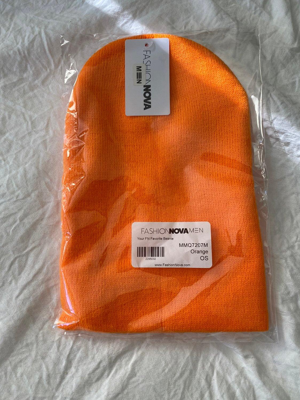 Orange fashion nova beanie