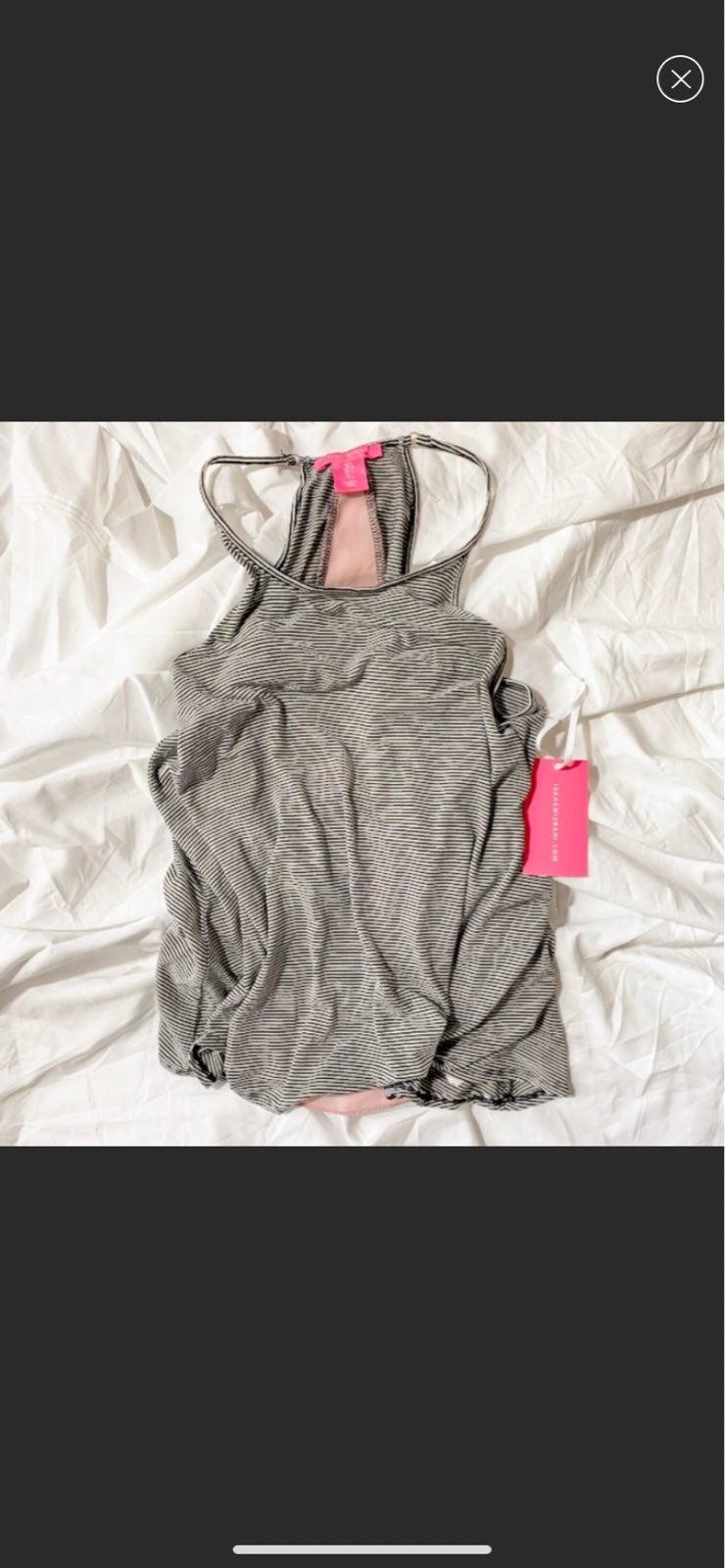 Isaac Mizrahi Striped Sleepwear Tank