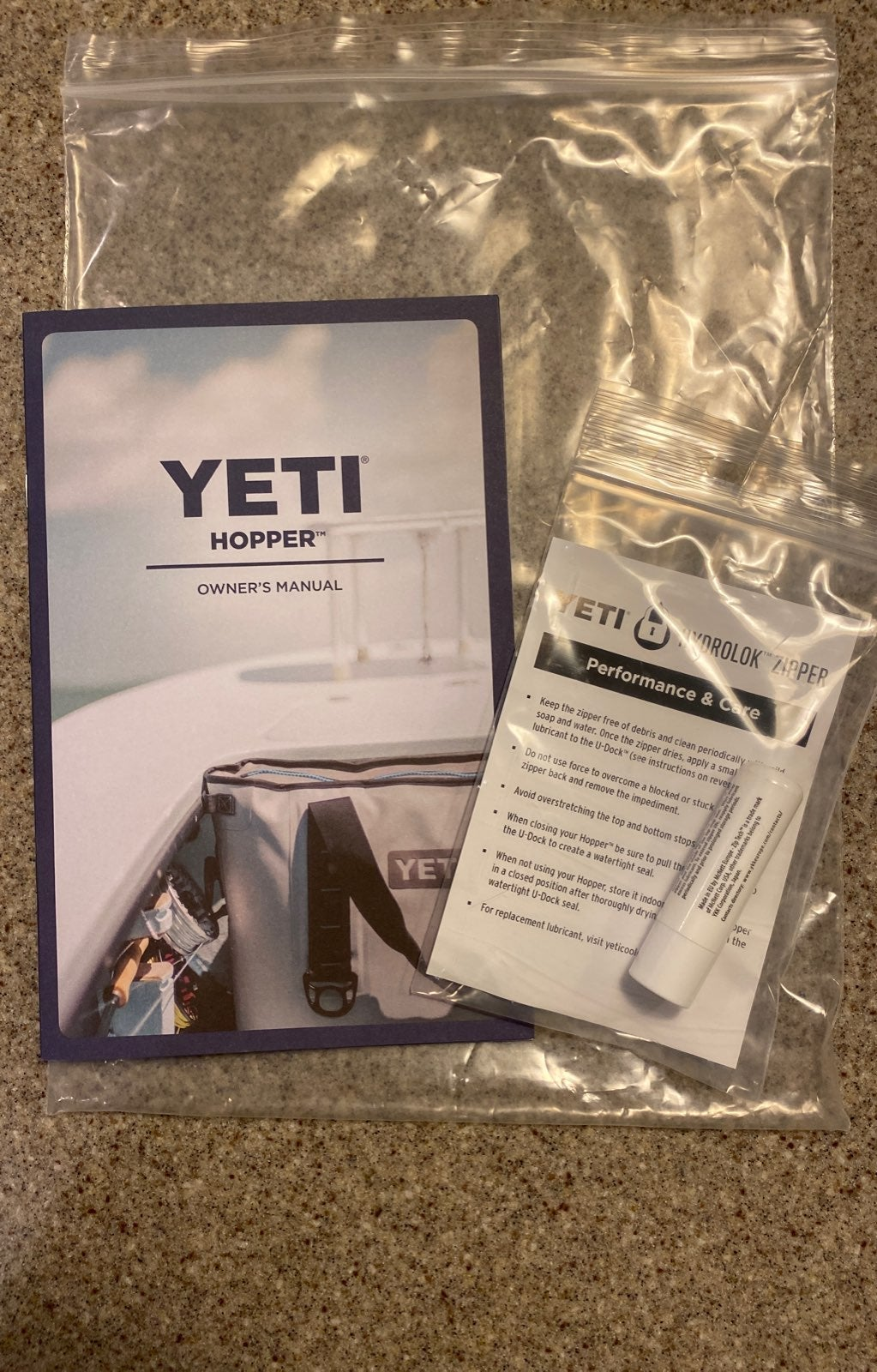 Yeti Hopper owner's manual, zipper lube