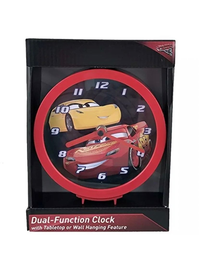 DISNEY CARS DUAL FUNCTION CLOCK TABLETOP