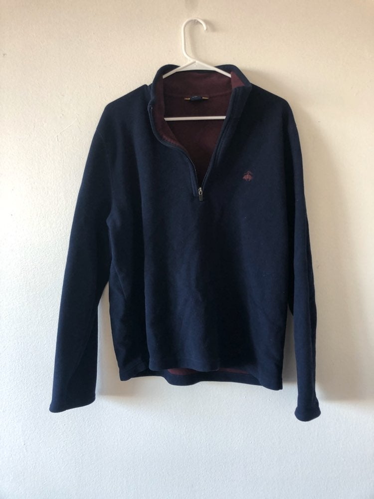 Brooks Brothers 346 Navy Zip Pullover