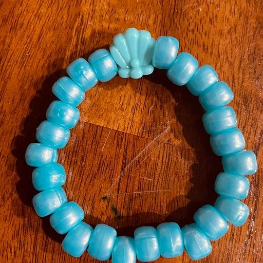 Teal shell bracelet