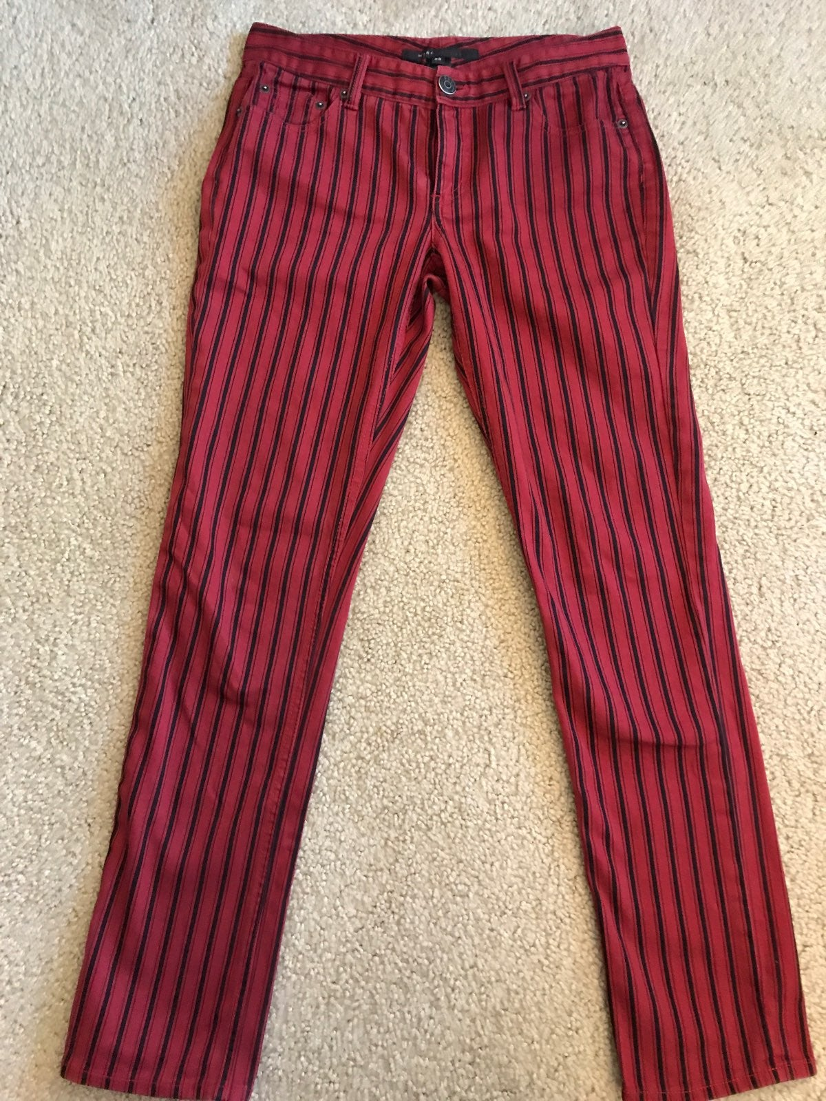 Vintage Red Pinstripe Marc Jacobs Jeans