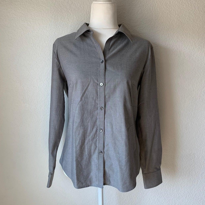 Cutter & Buck Women's Gray Collard Shirt