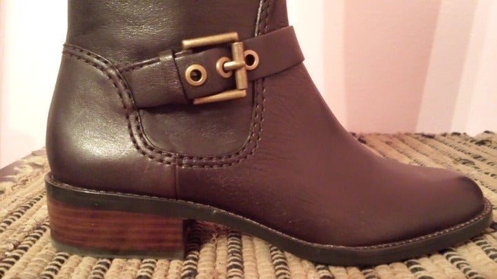 Coach Jacinda Brown Leather Tall Boots