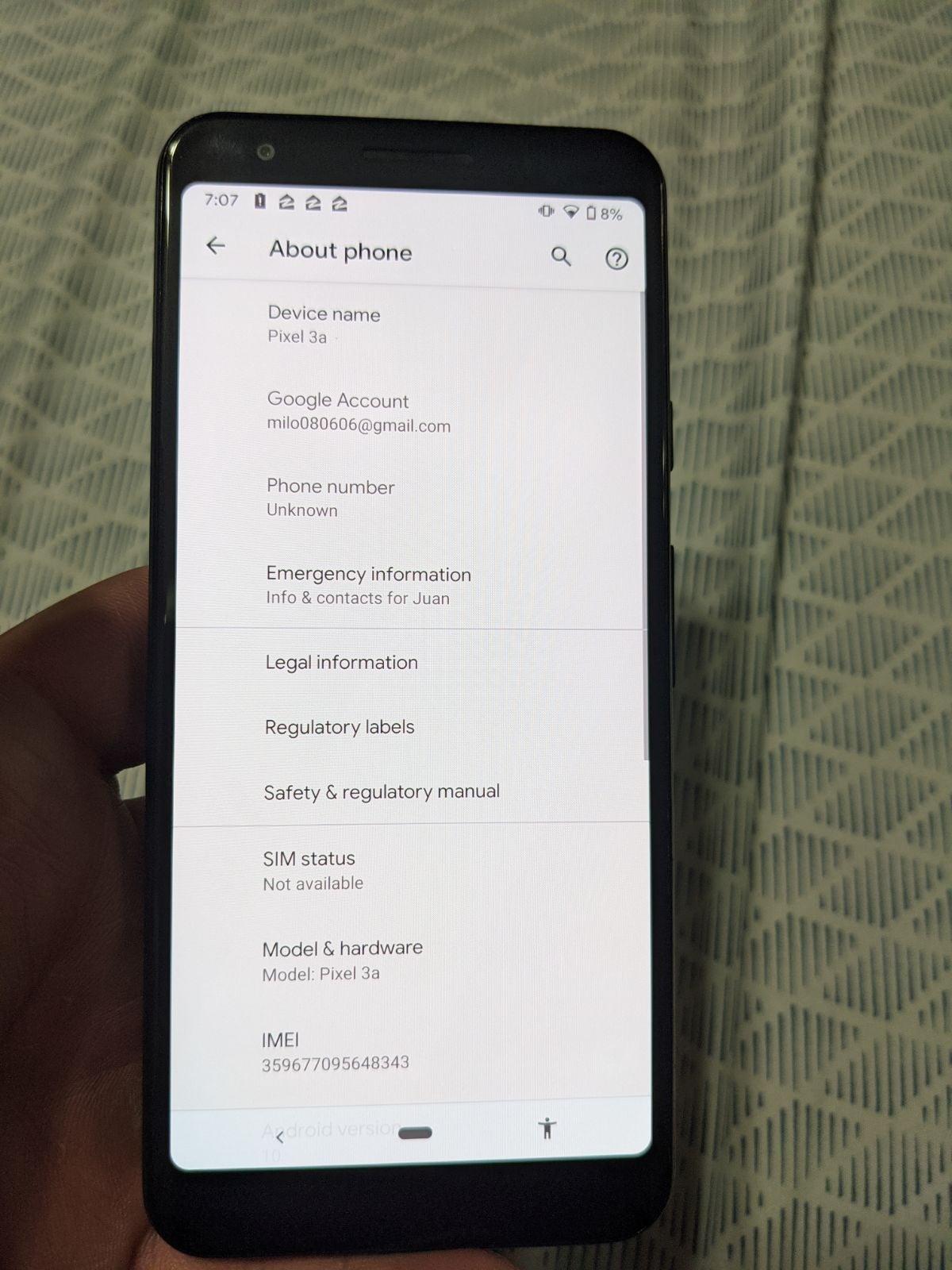 T-Mobile Google Pixel 3a