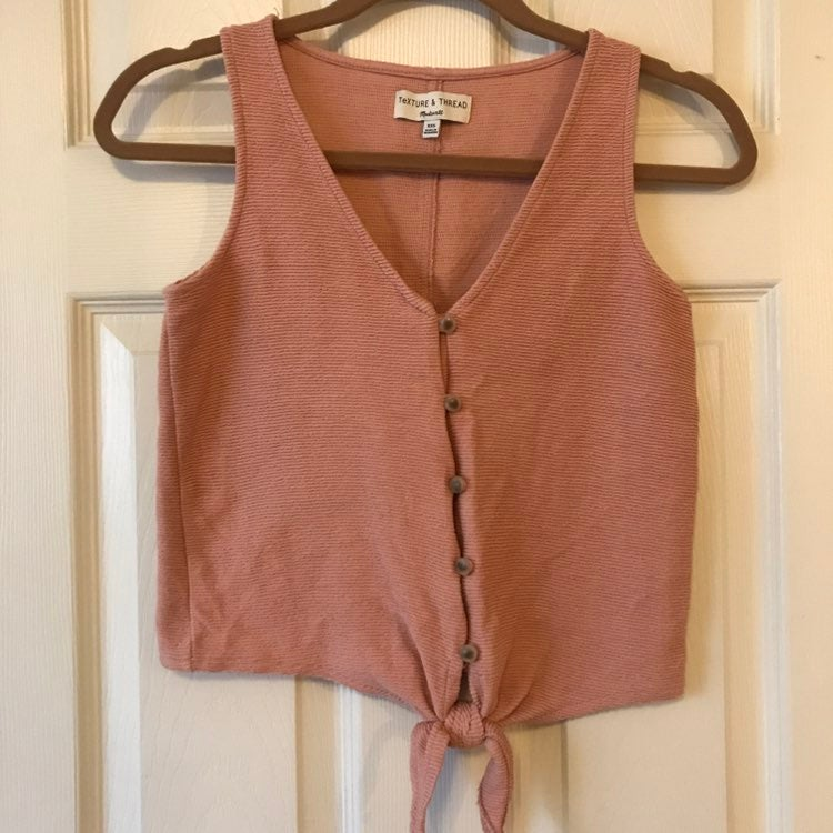 Madewell Front Tie Tank Top