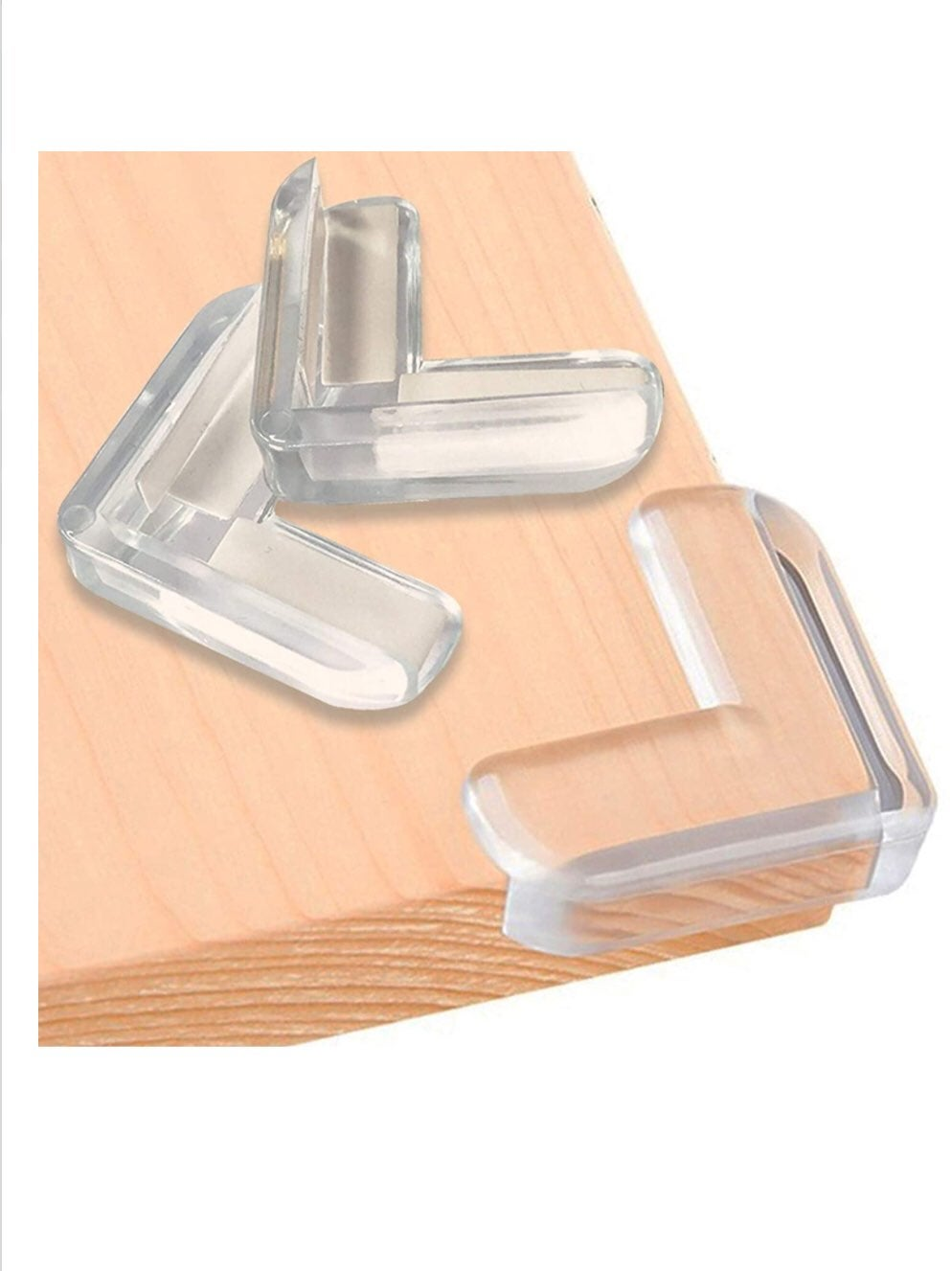 24 Pack L-Shaped Clear Corner Protector