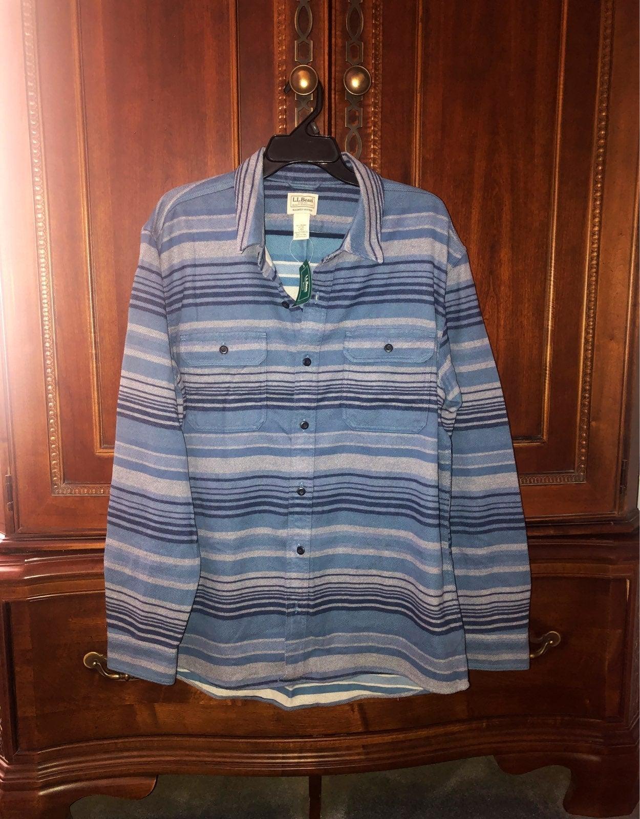 LL Bean Mens Cotton Flannel Shirt Size L