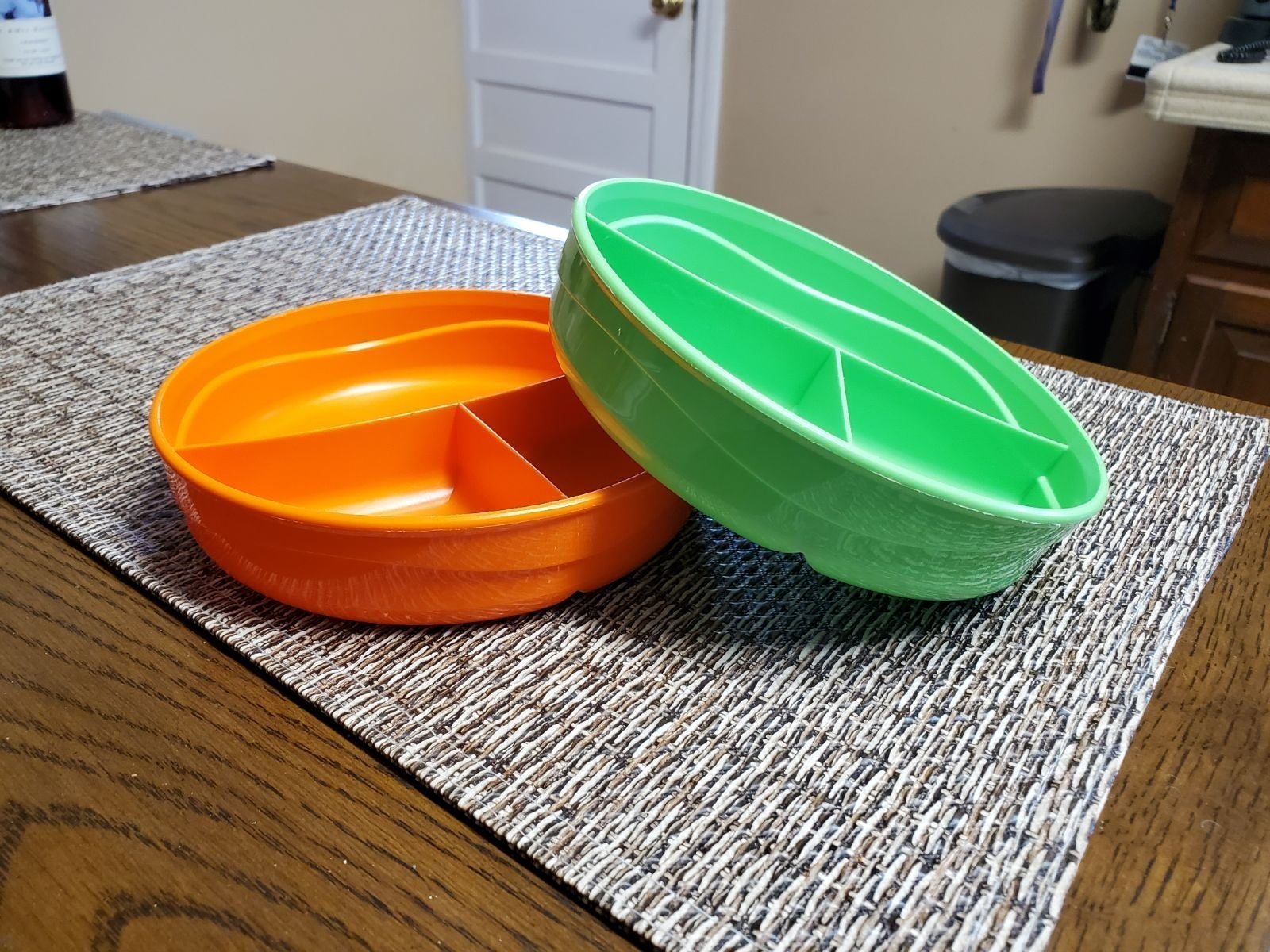 Tupperware Toddler divided plates