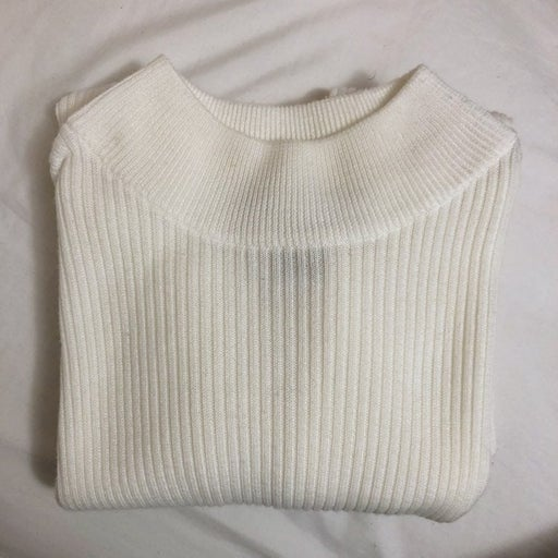 White Stretchy Ribbed Top