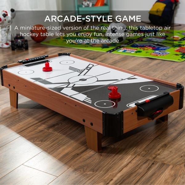Tabletop Air Hockey Game Table w/ 2 Blo
