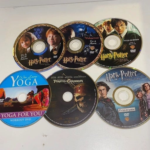 Harry Potter DVD lot of 6 DVDs MISSING DISCS