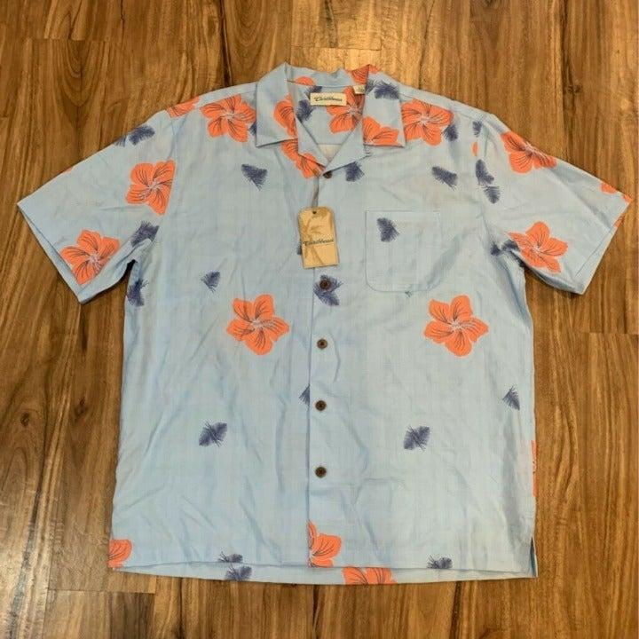 Caribbean Mens Hawaiian Shirt Blue Orang