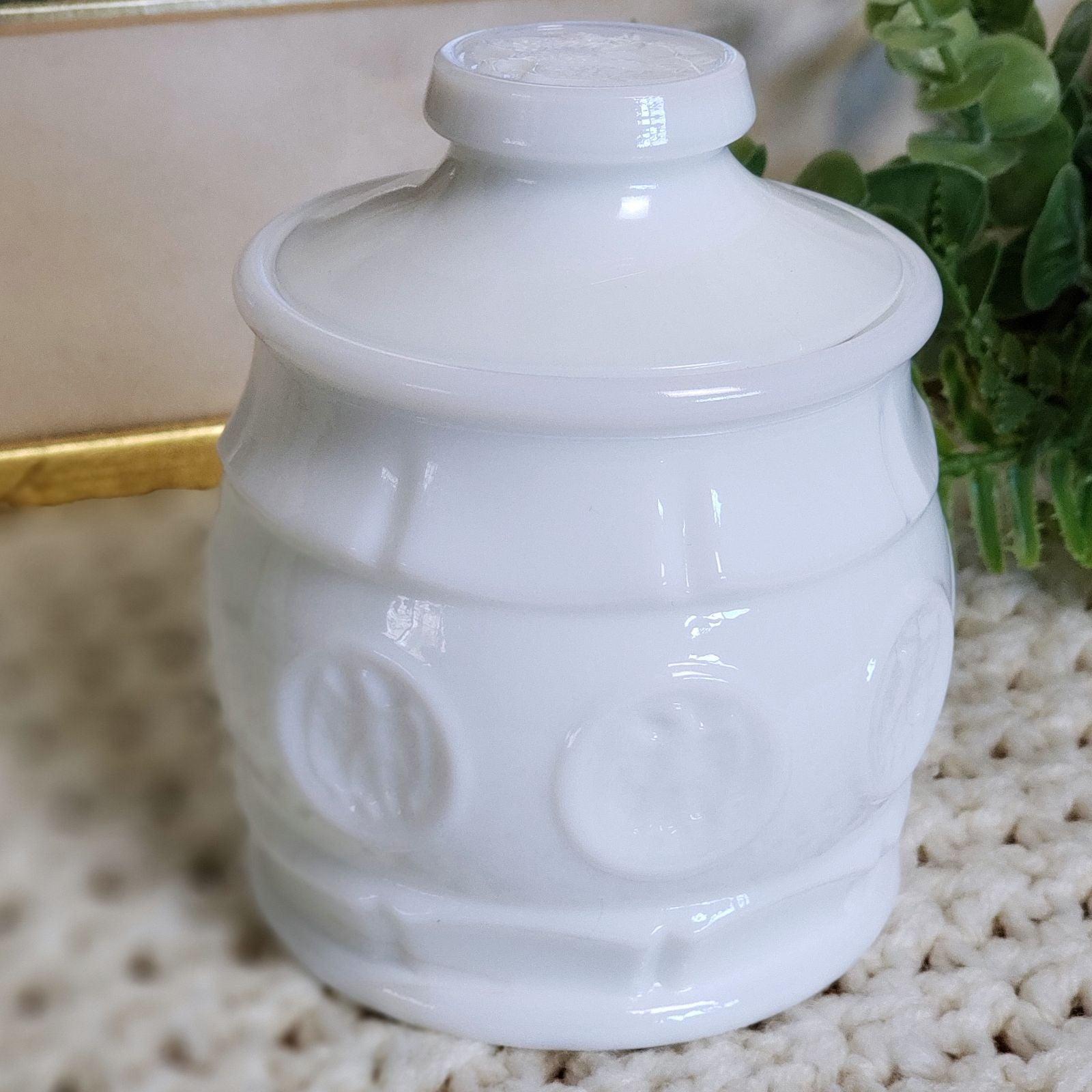 Vintage Wheaton Milk Glass Sugar Bowl