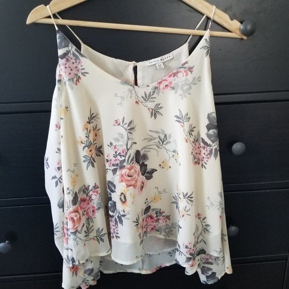 Haute Monde Cold Shoulder Floral Shirt