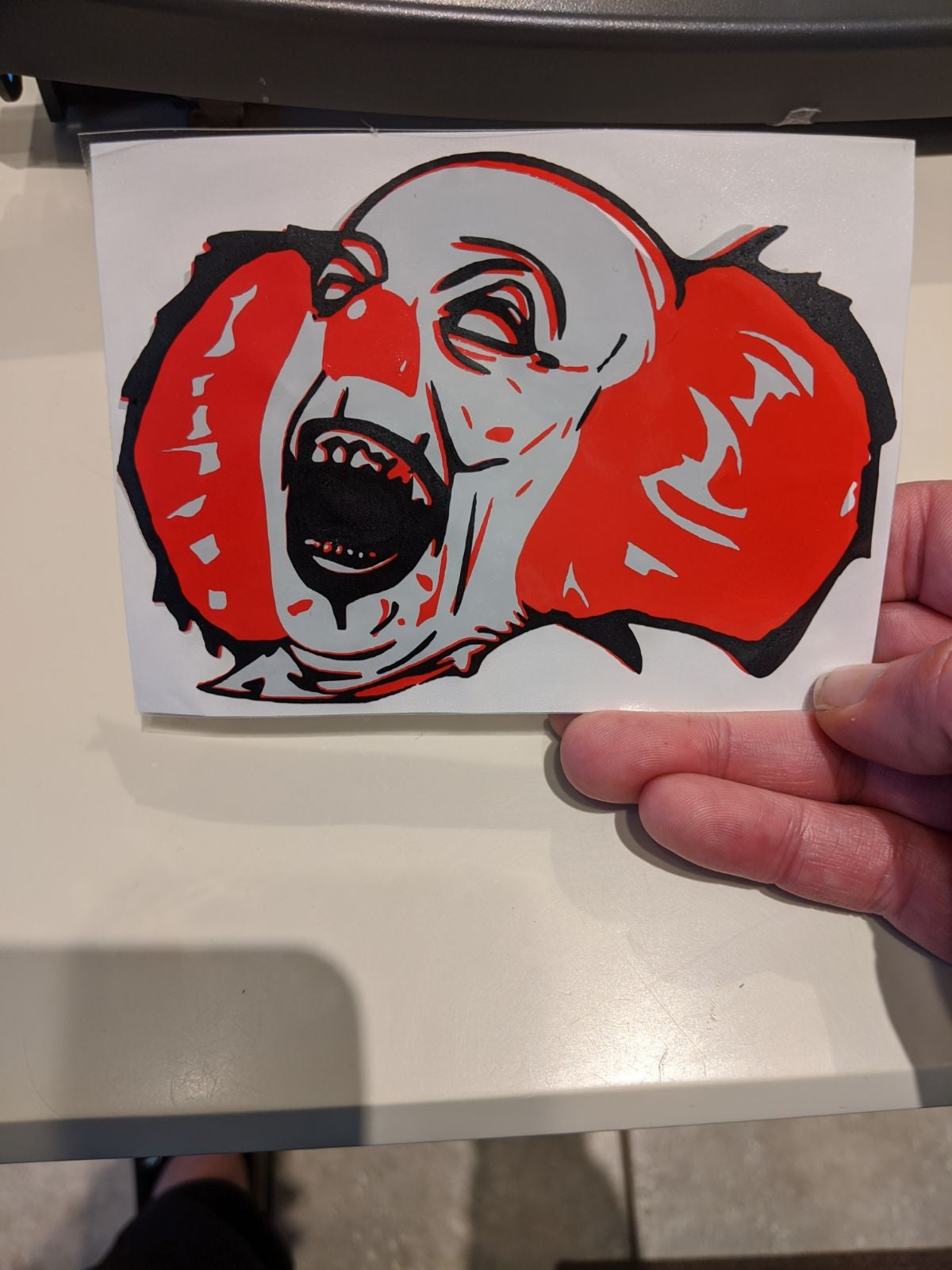 Pennywise vinyl decal
