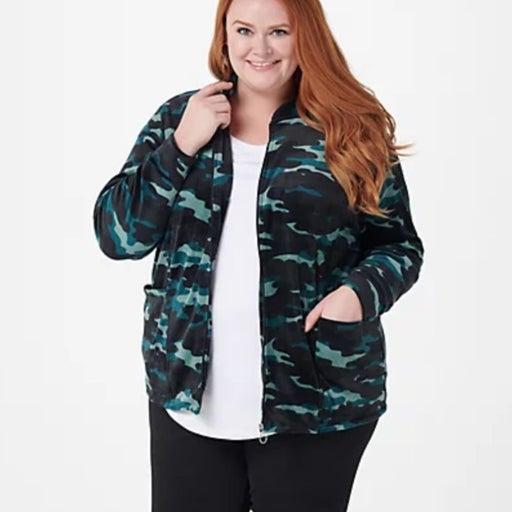 CUDDL DUDS Plush Velour Jacket XL NEW