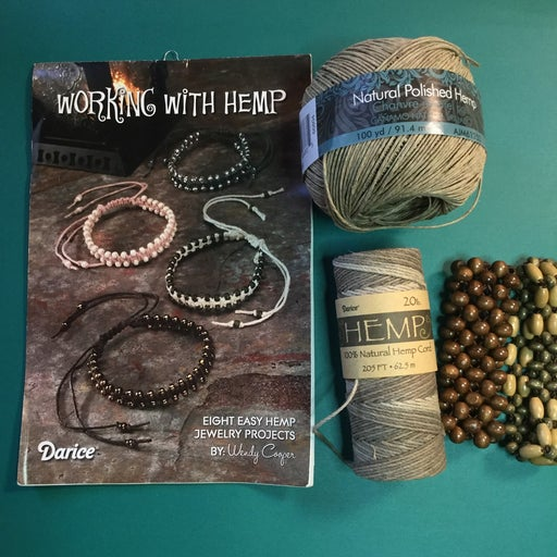 Hemp cord and how-to booklet