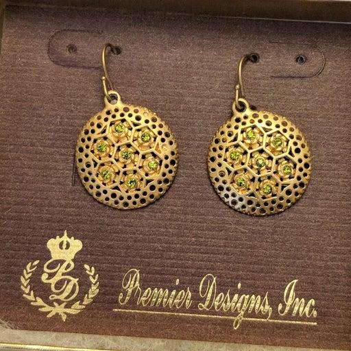 NIB Premier Designs Bamboo Earrings