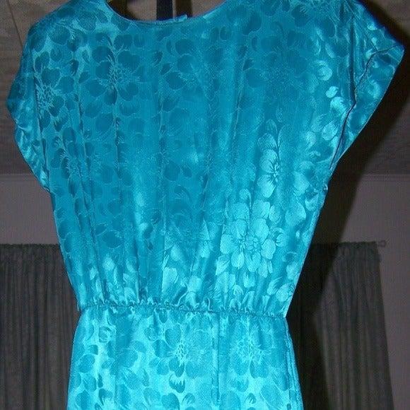 Samantha Black Turquois Dress Size 10