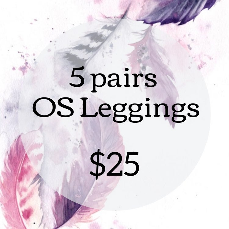 5 pairs of one size leggings