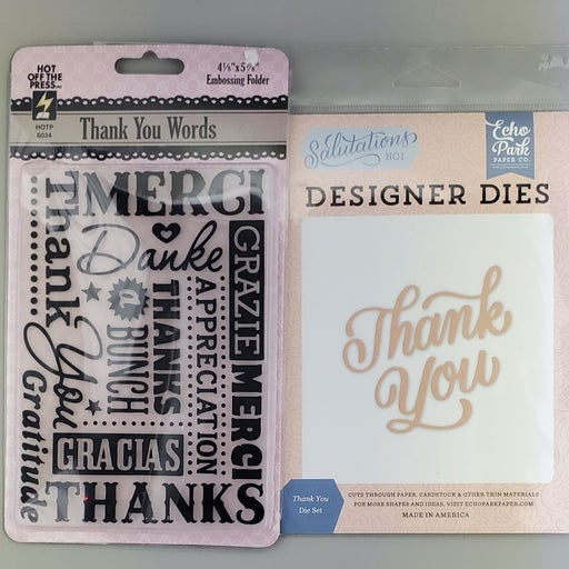 Thank You Embossing Folder and Die set