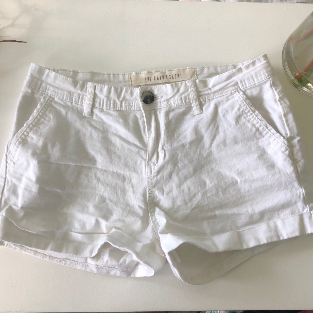 Cotton On White Chino Short
