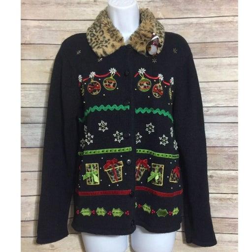 Ugly Christmas Sweater Animal Print