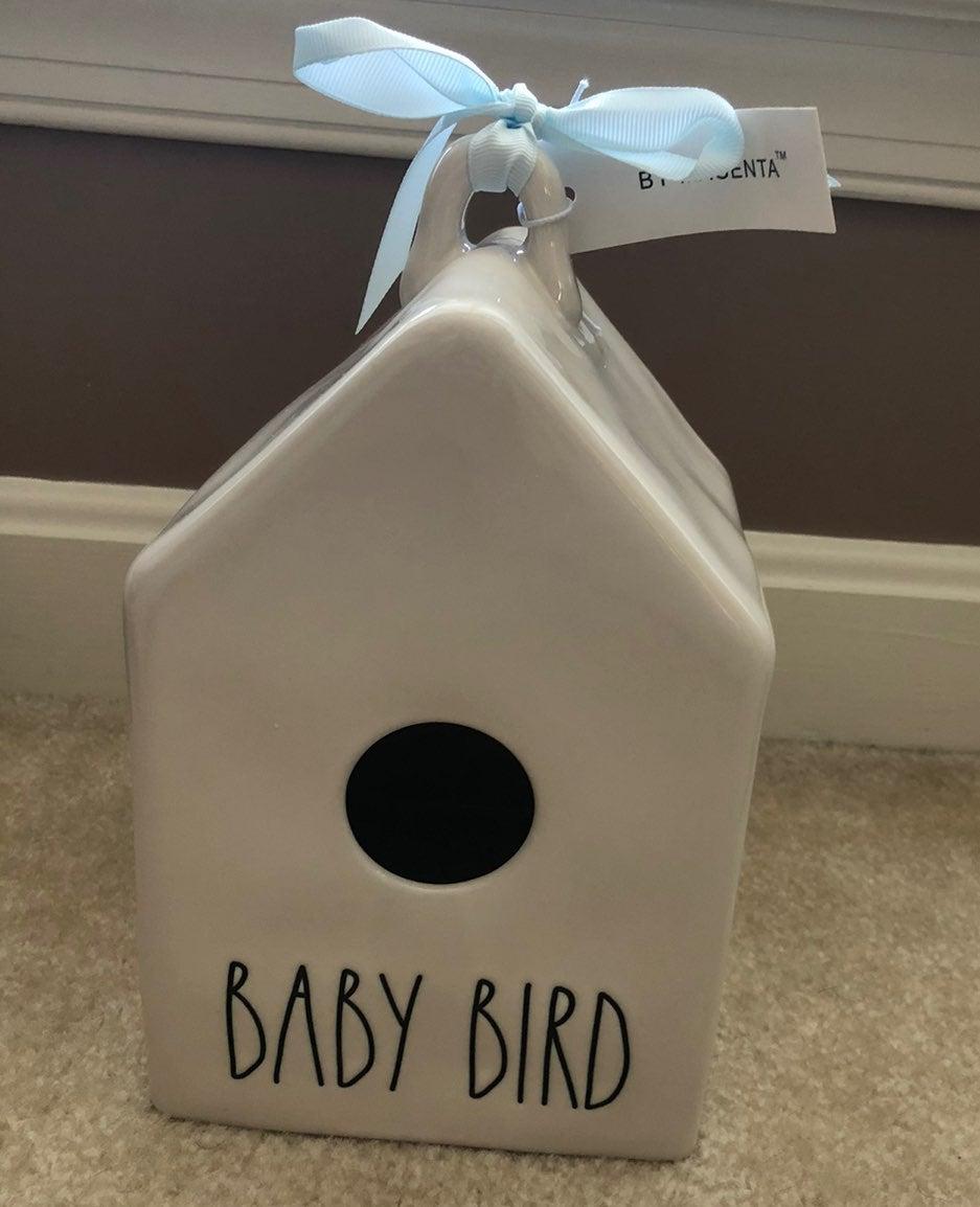 Rae Dunn baby bird birdhouse bank