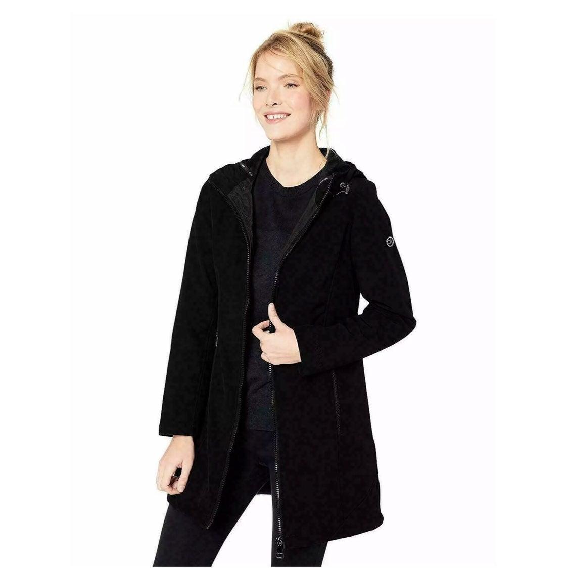 Calvin Klein black hooded rain coat SM