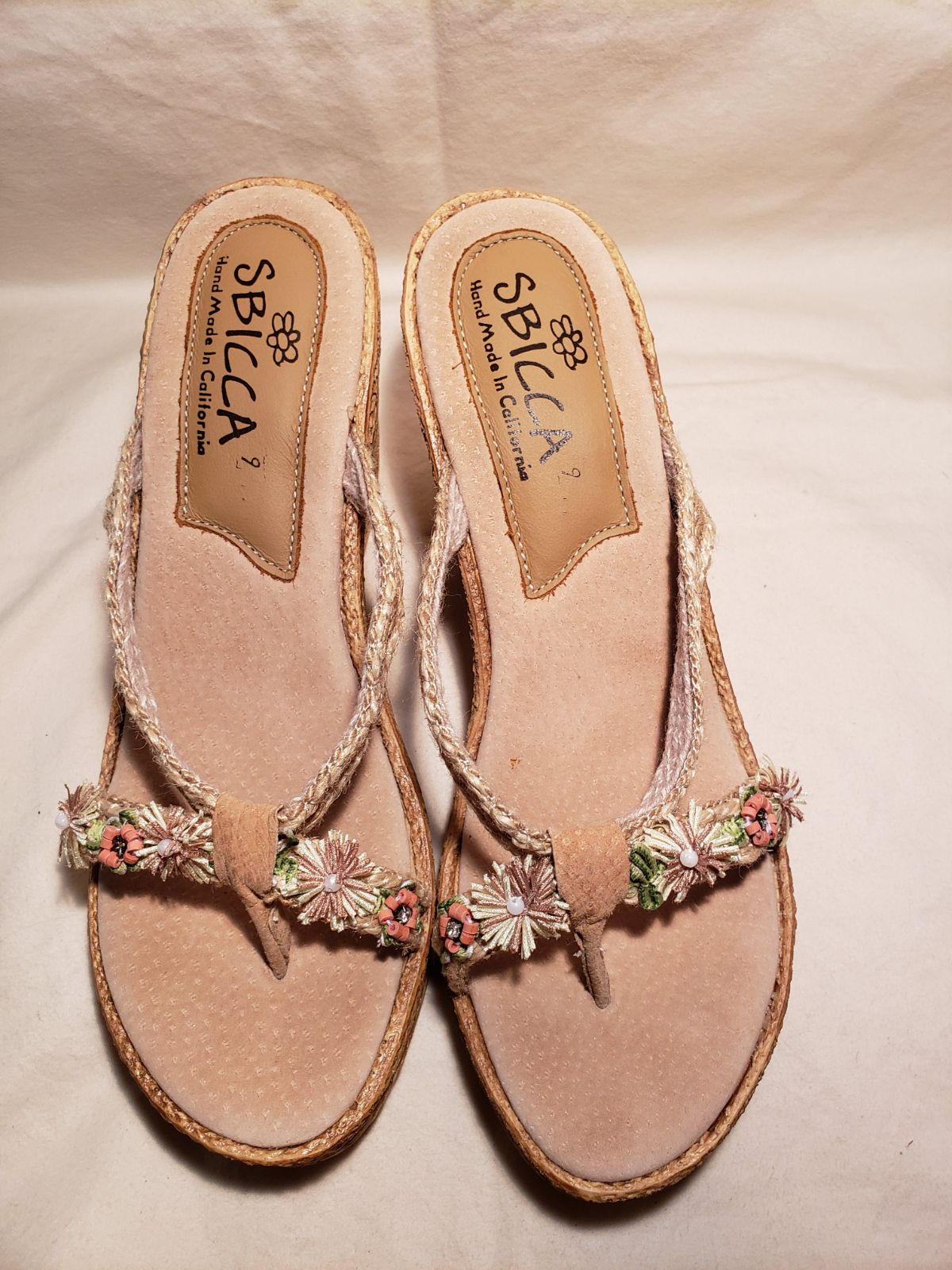 Hippie Floral Crowtopew Wedge Sandals
