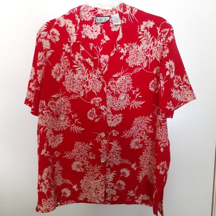BICE floral s/s blouse Size 12